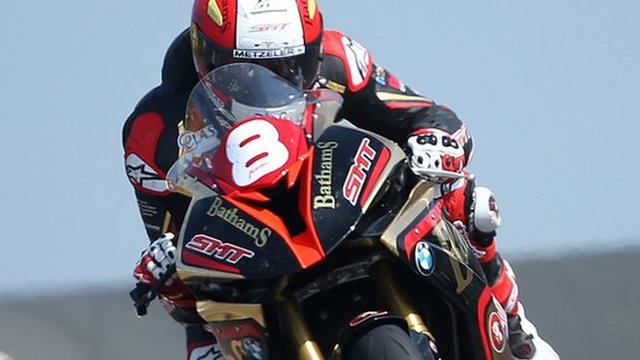 Michael Rutter was fastest in the Superstocks in practice at the North West 200