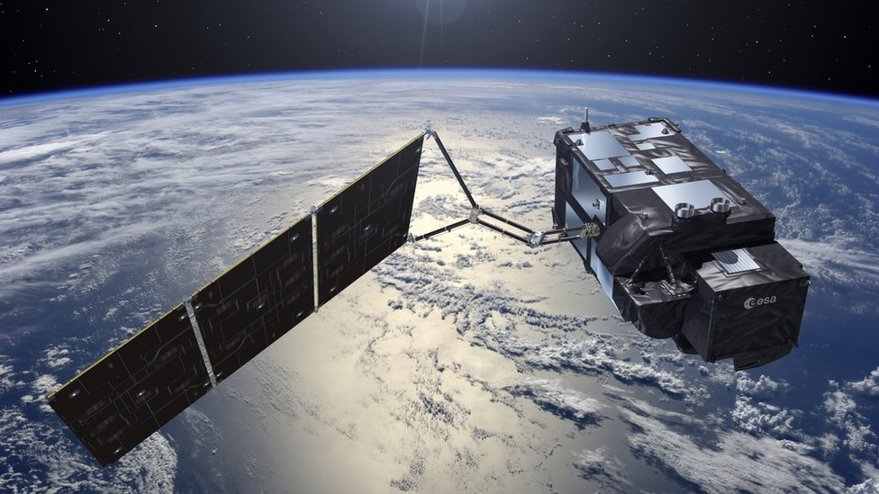 Artist impression of a satellite