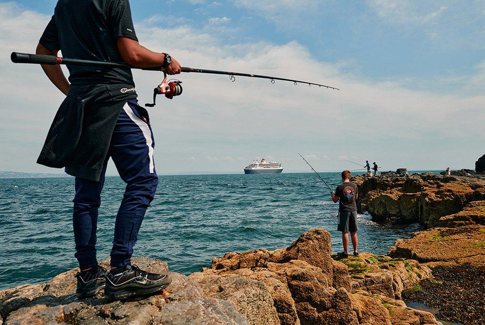 الصيد ممتع في هذه المنطقة التي تتسم بساحل صخري