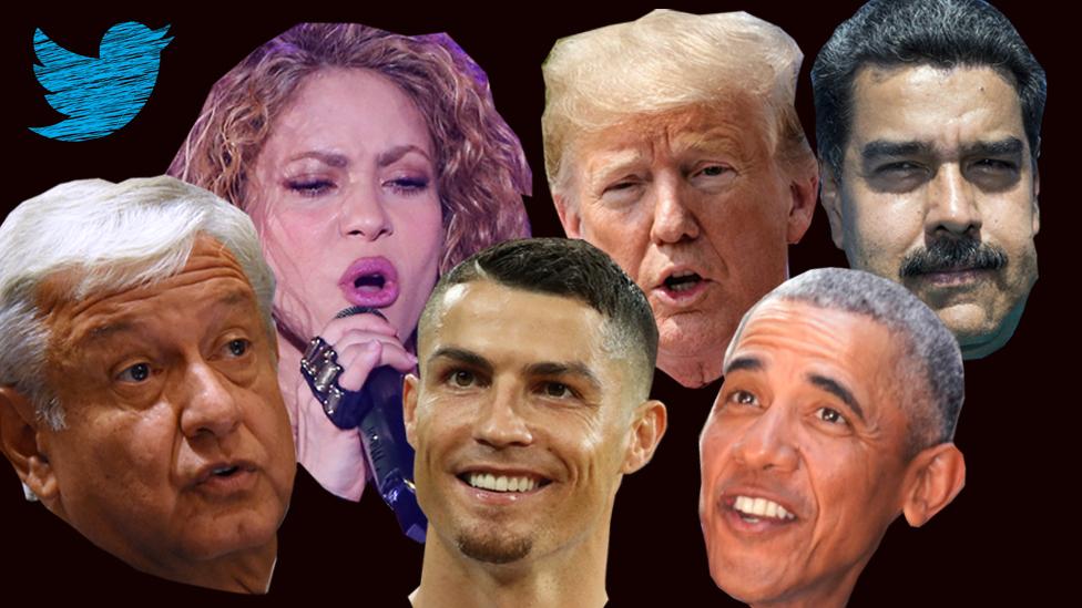 Obama, Trump, Shakira, AMLO, Cristiano Ronaldo, Nicolás Maduro