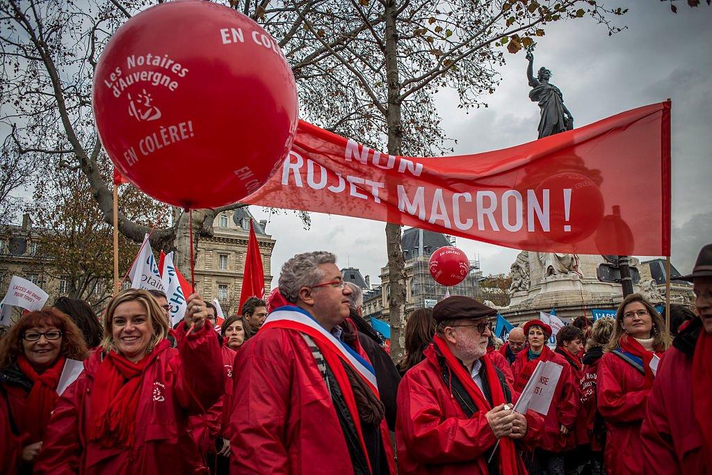 Протест проти Макрона