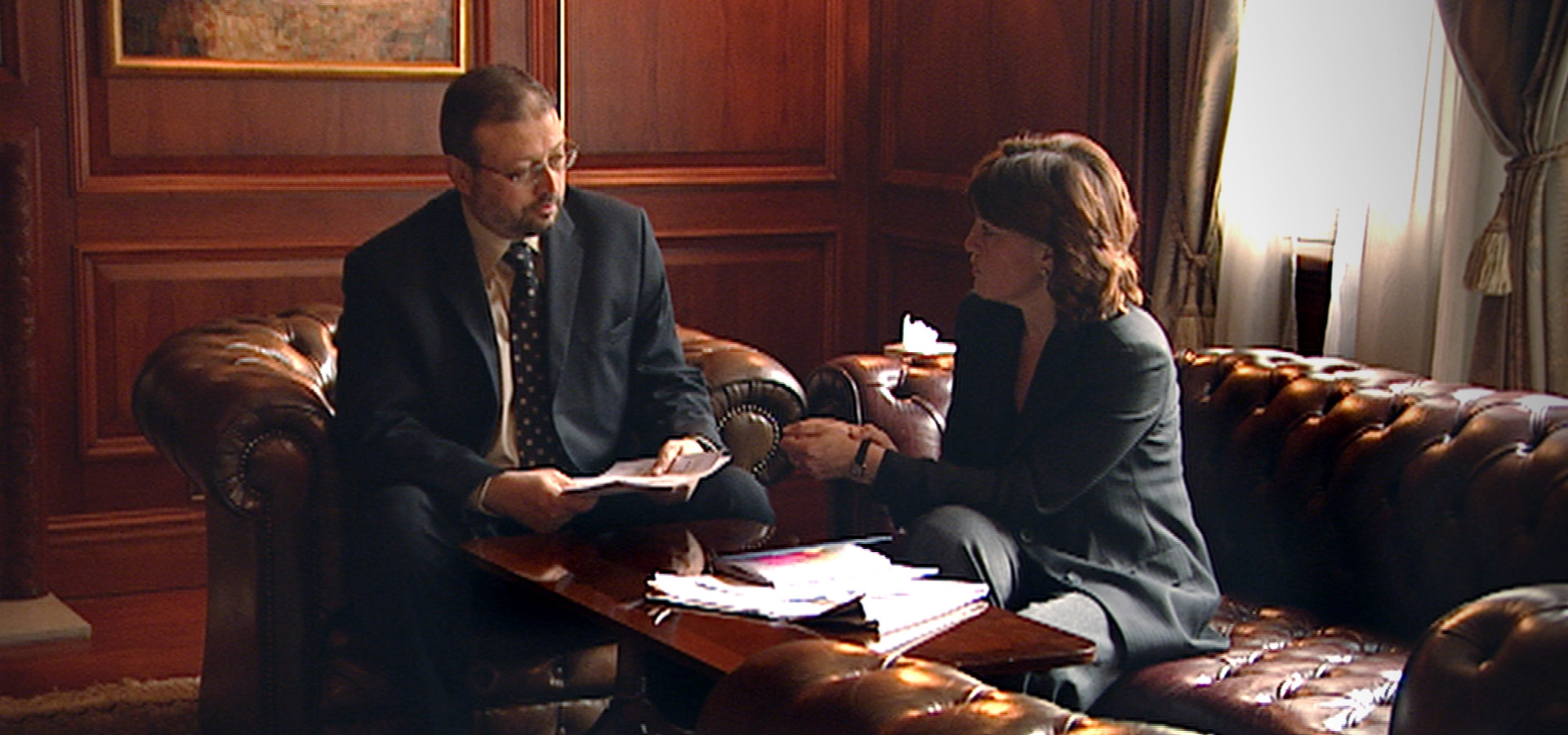 Jamal Khashoggi and Jane Corbin in 2004