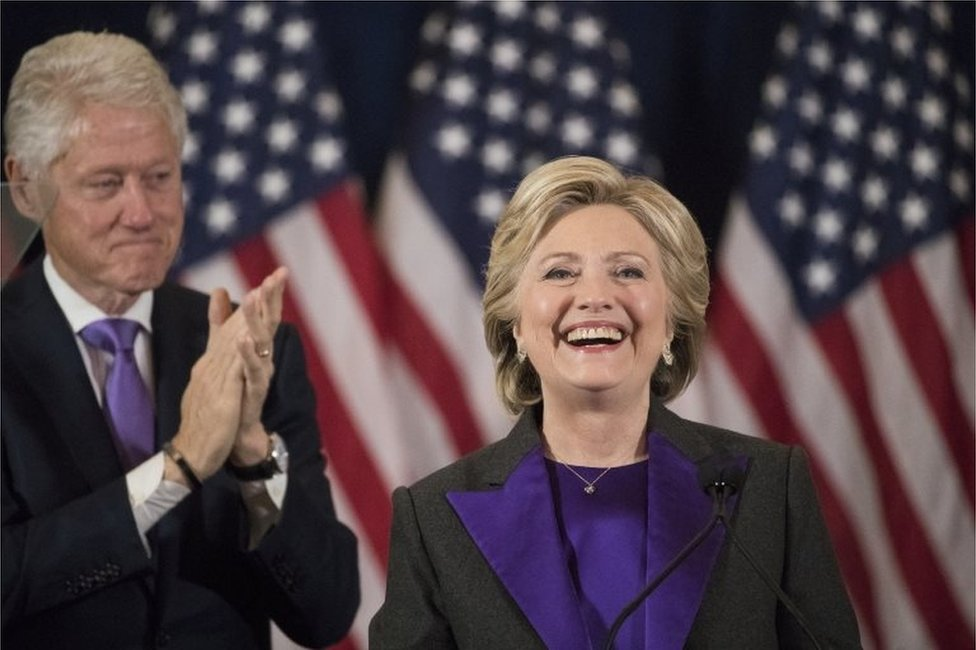 Hillary Clinton's concession speech after 2016 presidential election