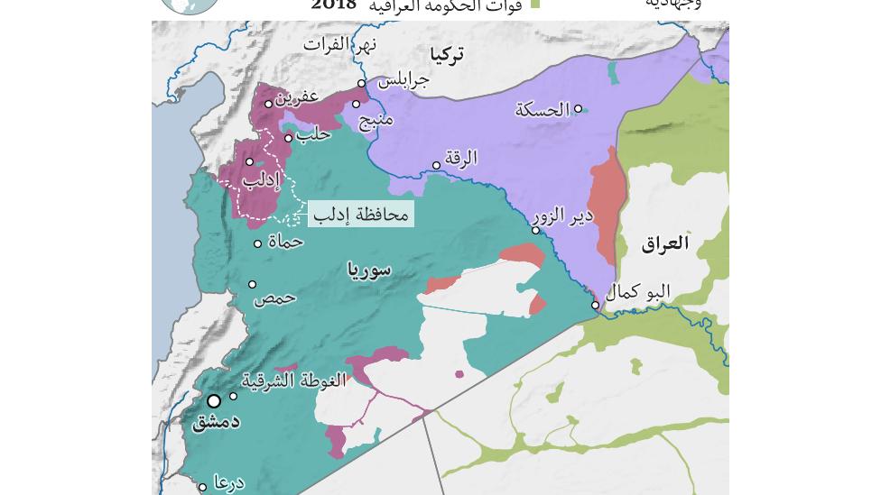 خريطة إدلب