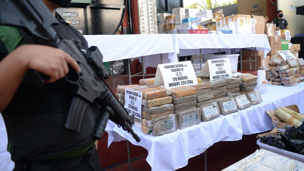 Kokain nije česta droga na Filipinima, koji imaju stroge zakone za zluopotrebu narkotika