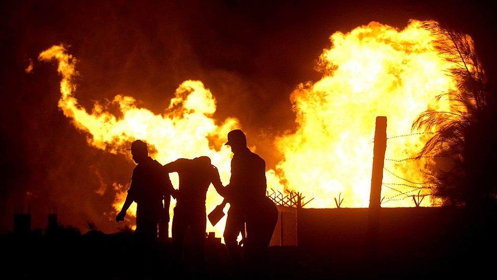 حريق غاز