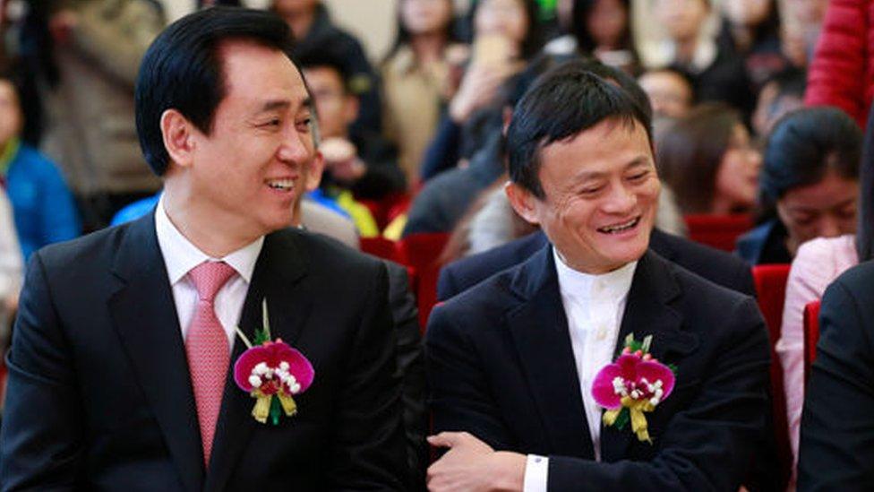 Xu Jiayin y Jack Ma