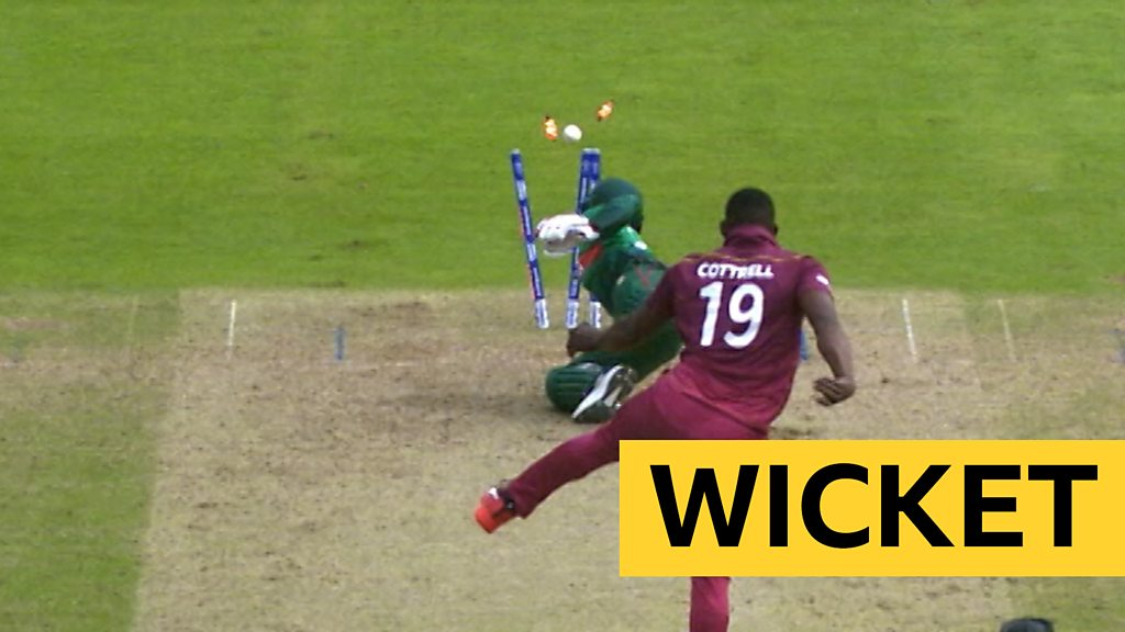 Cricket World Cup: West Indies' Sheldon Cottrell runs out Bangladesh's Tamim Iqbal