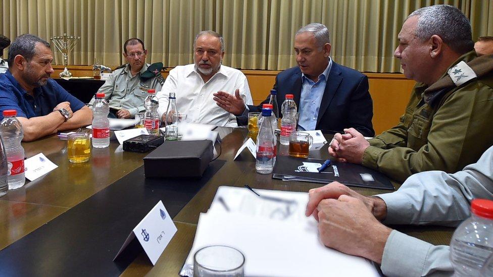 نتنياهو في اجتماع أمني