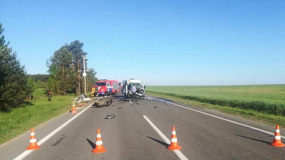 В аварії у Білорусі загинула дитина з України, ще 6 - травмовані