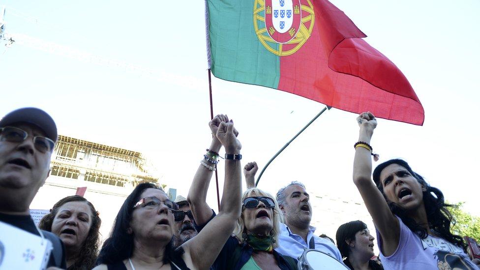 Portugueses protestan en 2011