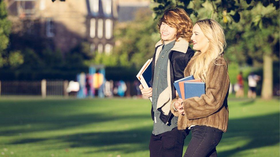 Students walking along (stock image)