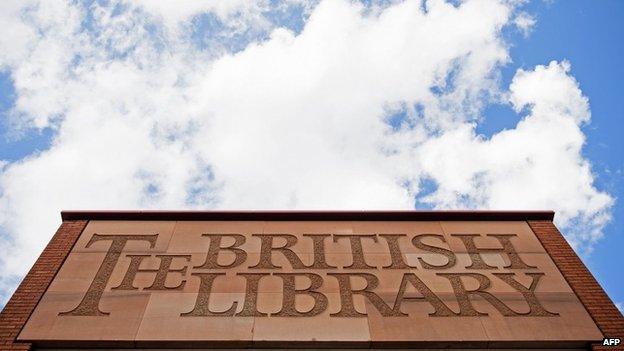 British Library sign