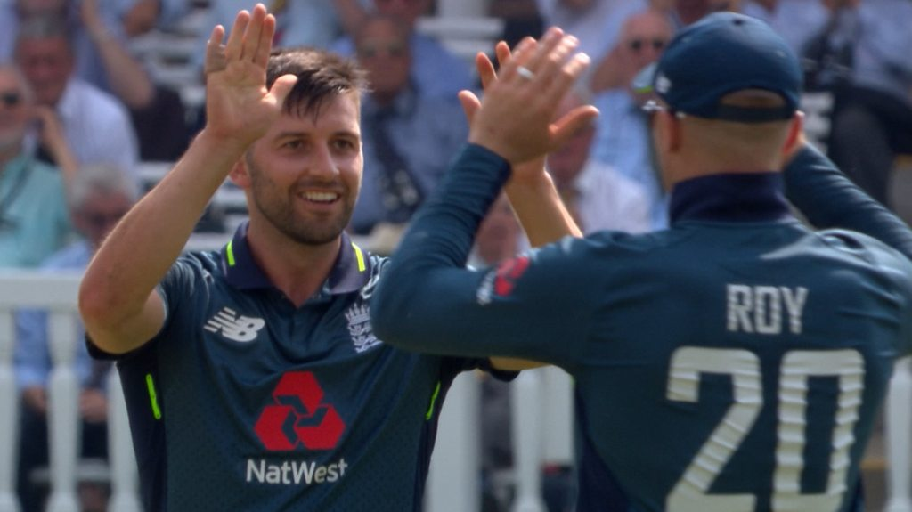 England v India: Mark Wood bowls Rohit Sharma