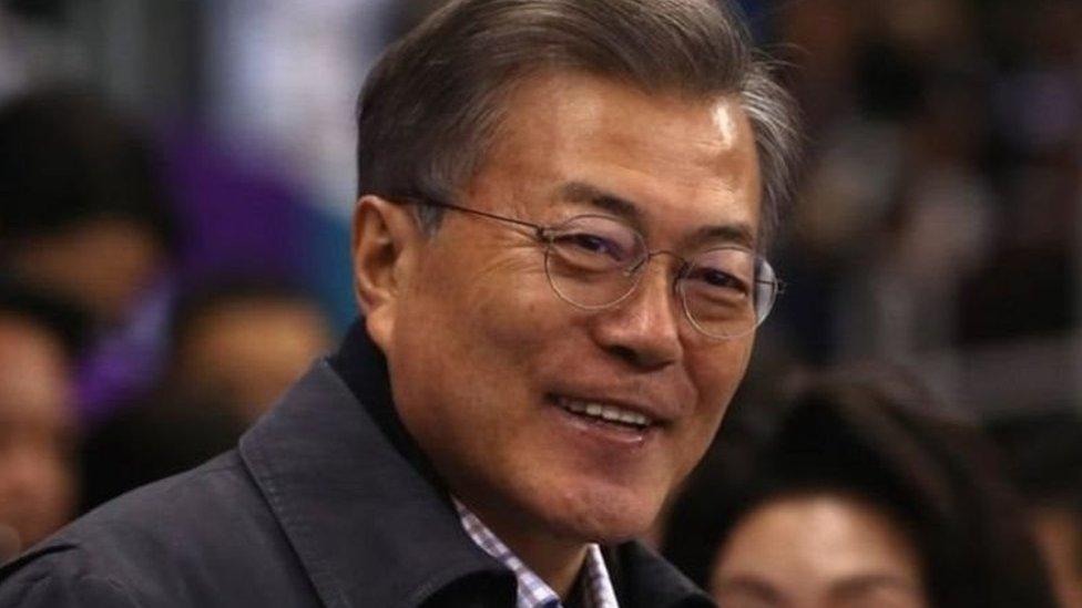 مون جيه إن رئيس كوريا الجنوبية