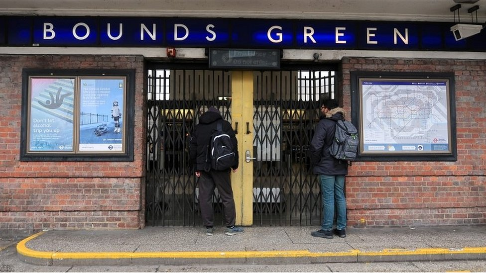 Bounds Green station closed