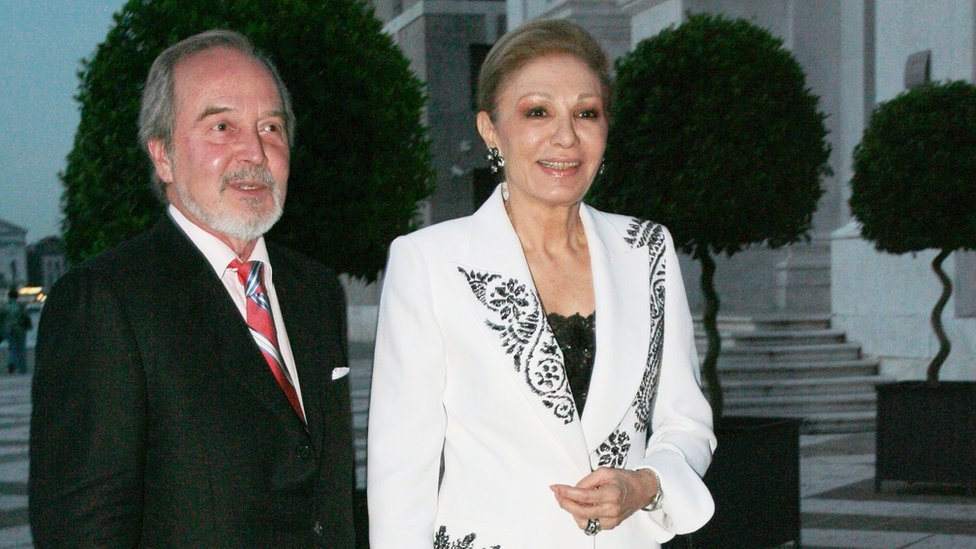 Claudio Bravo Camus con Farah Pahlavi