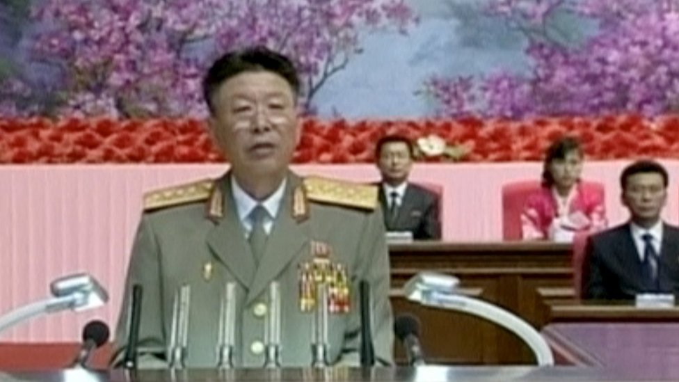 File picture of Gen Ri Yong Gil from North Korean television