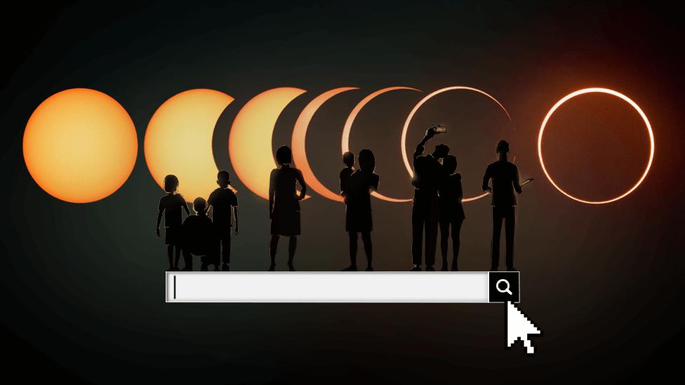 ilustración sobre el buscador de fechas de los próximos eclipses