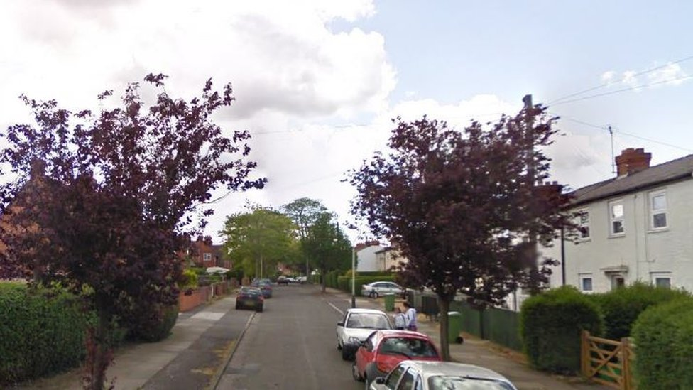 Byron Road, from where the masked attackers fled the scene