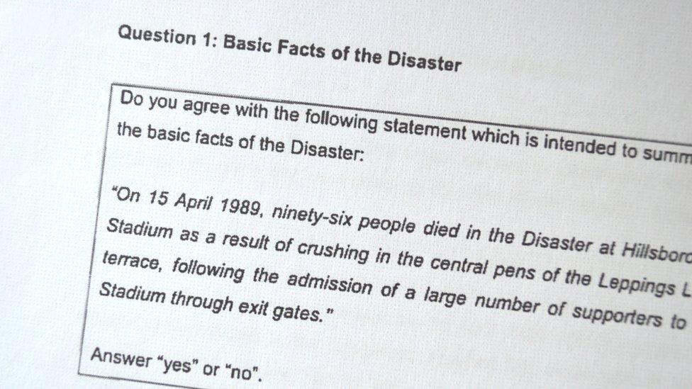 Hillsborough questionnaire