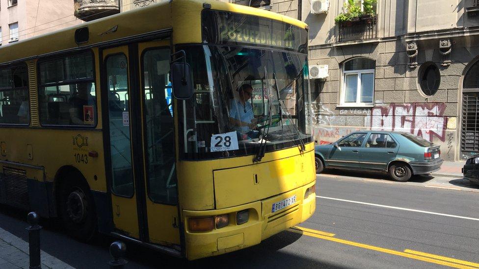Autobus u Svetogorskoj