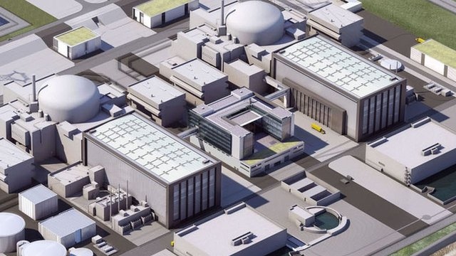 An artist's impression of proposals for Hinkley Point C