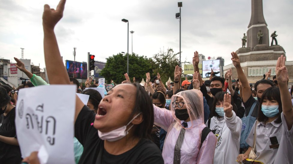 Pro-Democracy protests continue across Thailand
