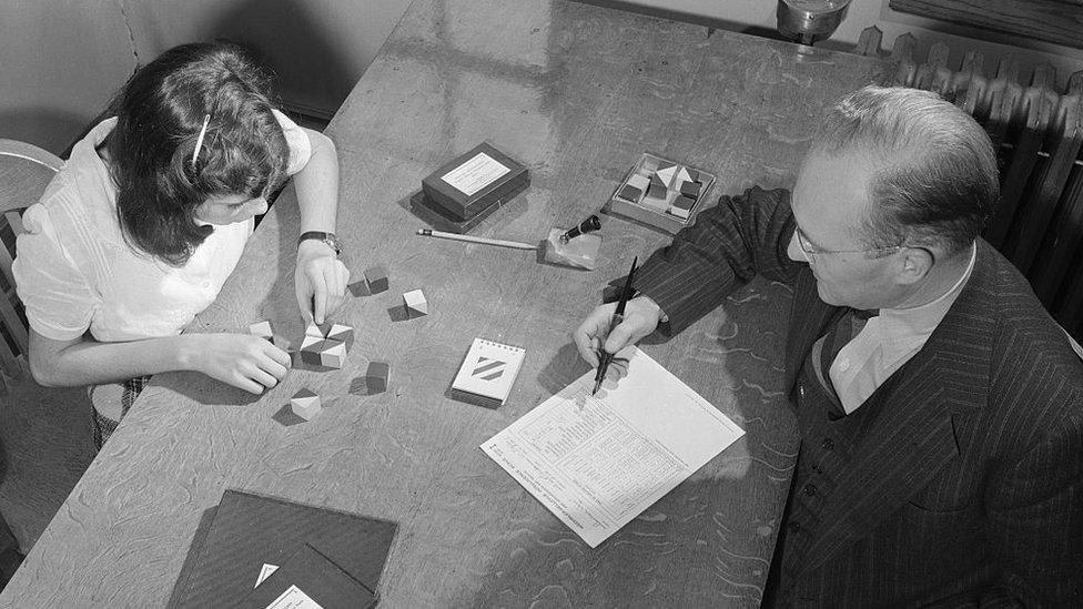 Una prueba de QI en 1947