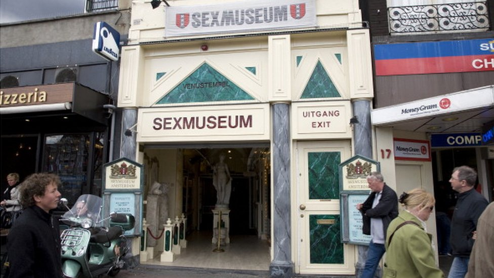 A picture of the Sex Museum in Amsterdam