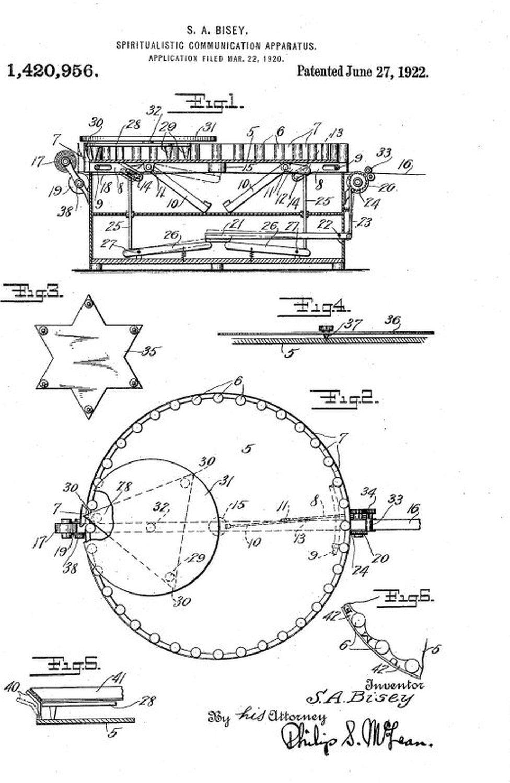 """Bhisey's patent application for the """"spirit typewriter"""""""