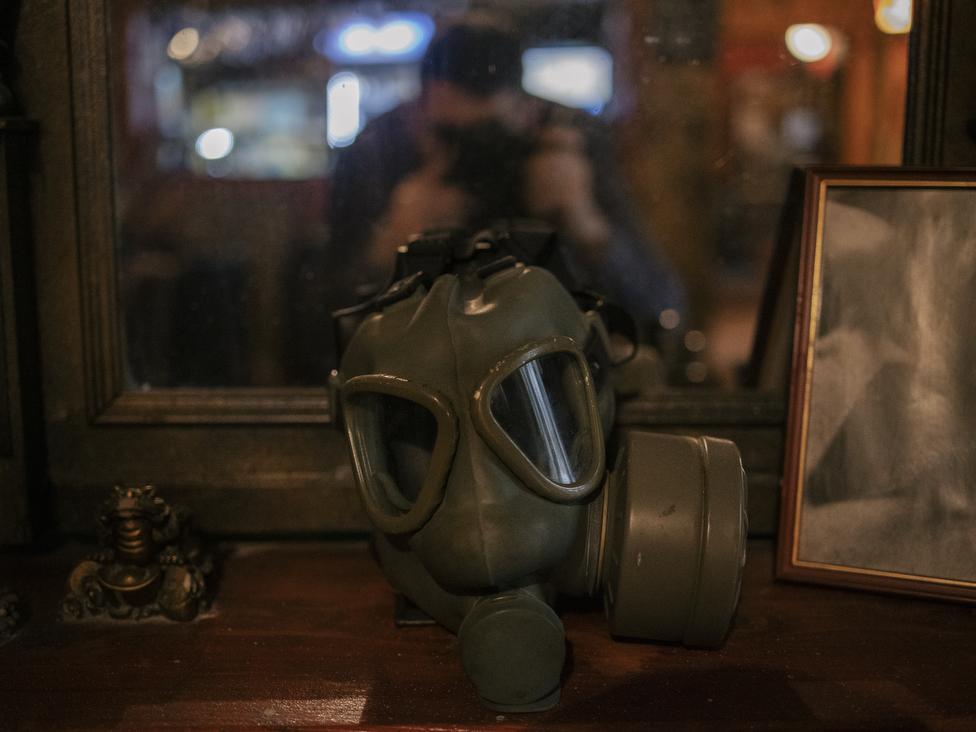 Gas maska kao suvenir