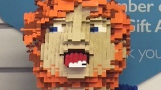Ed Sheeran donates Lego head to charity