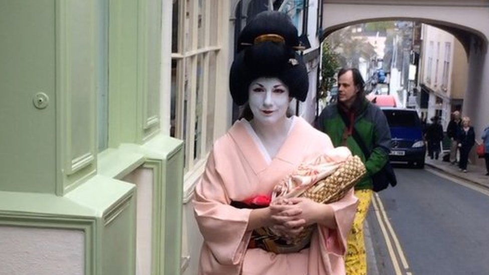 Devon woman Emily Rogers is a part-time geisha