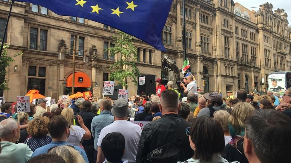 Protest in Nottingham