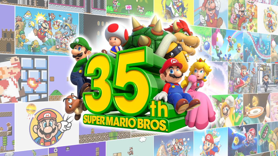 Nintendo's various characters from the last 35 years