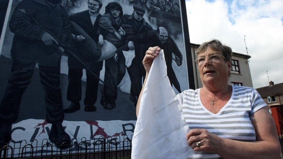 Kay Duddy carries in her handbag the white handkerchief Fr Daly used on her dying brother's wounds