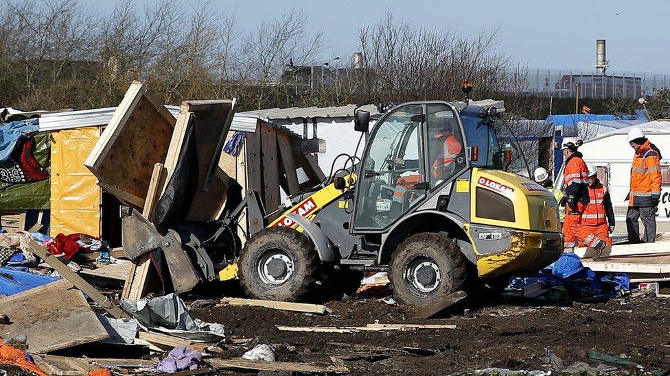 Demolition at 'Jungle', 4 Mar 16