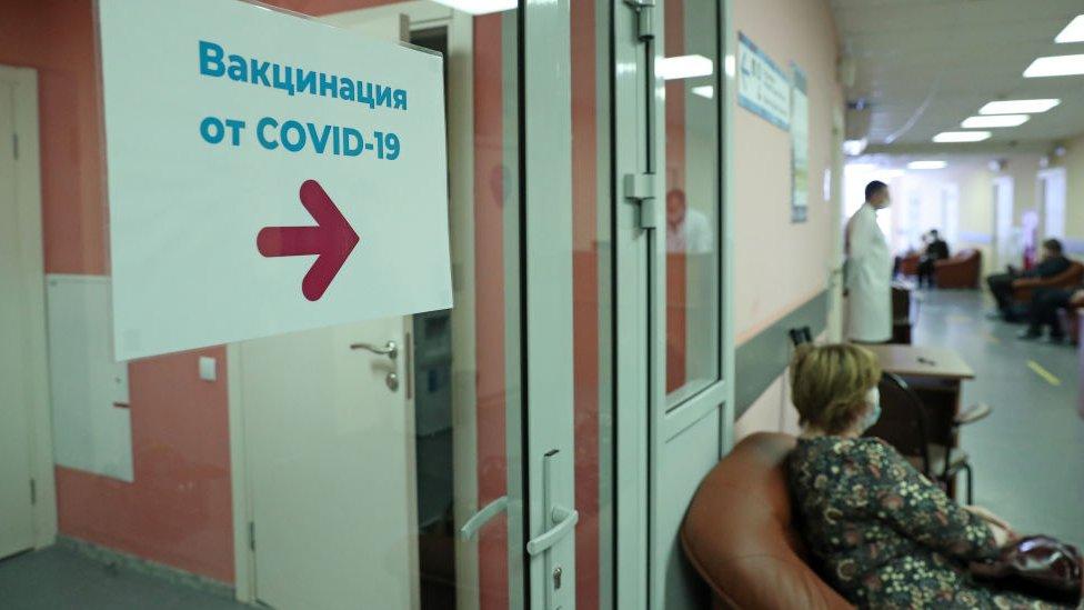 Sala de espera em clínica de Moscou