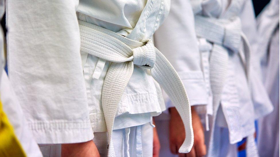 Children wearing judo dress