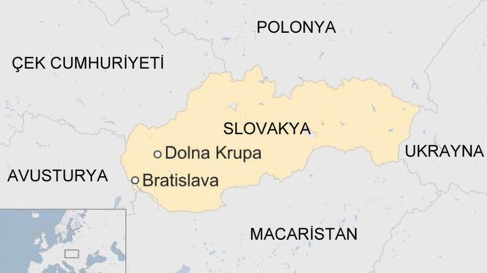 Slovakya harita