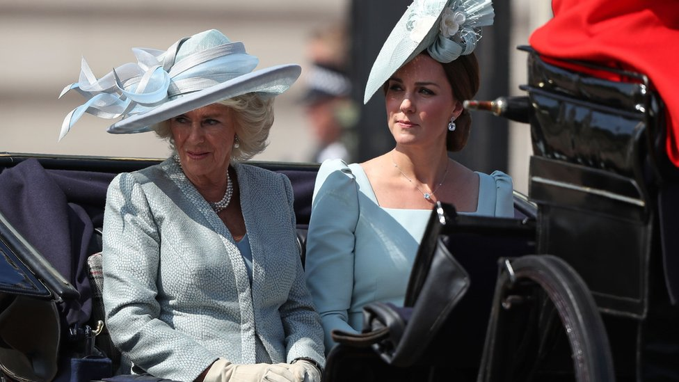 Camilla, the Duchess of Cornwall, and Kate, the Duchess of Cambridge