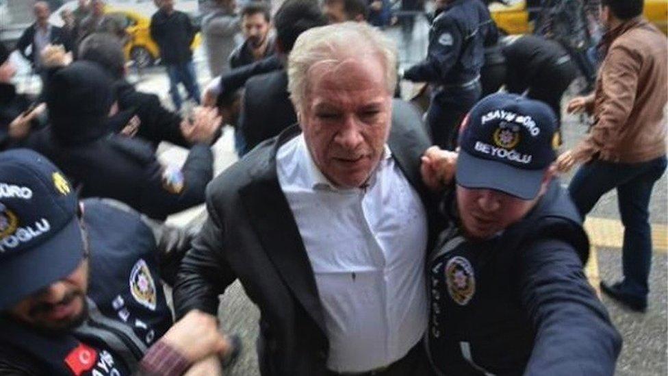 El momento del ataque a İşbaşaran