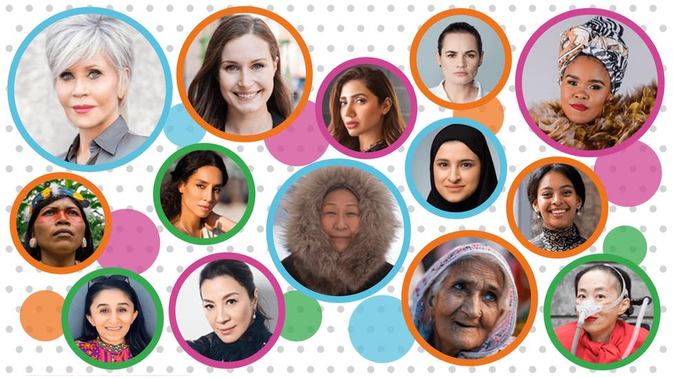 Selección de fotografías de 100 mujeres