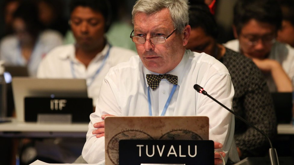 Tuvalu lead negotiator Ian Fry