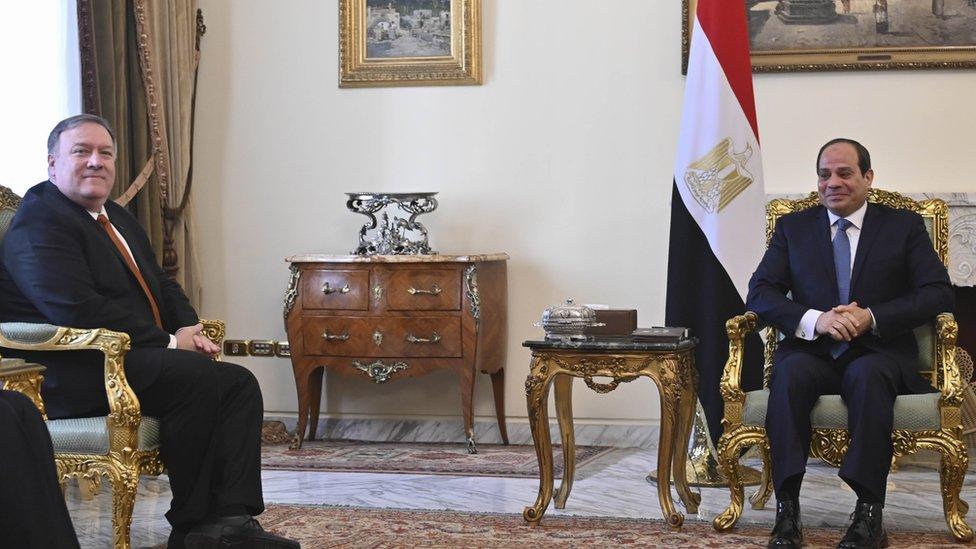 بومبيو في القاهرة