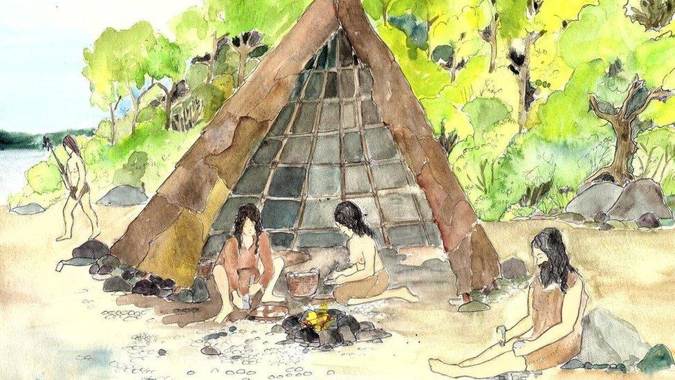 Illustration of camp