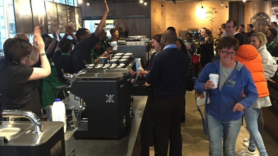 Starbucks in Johannesburg, South Africa