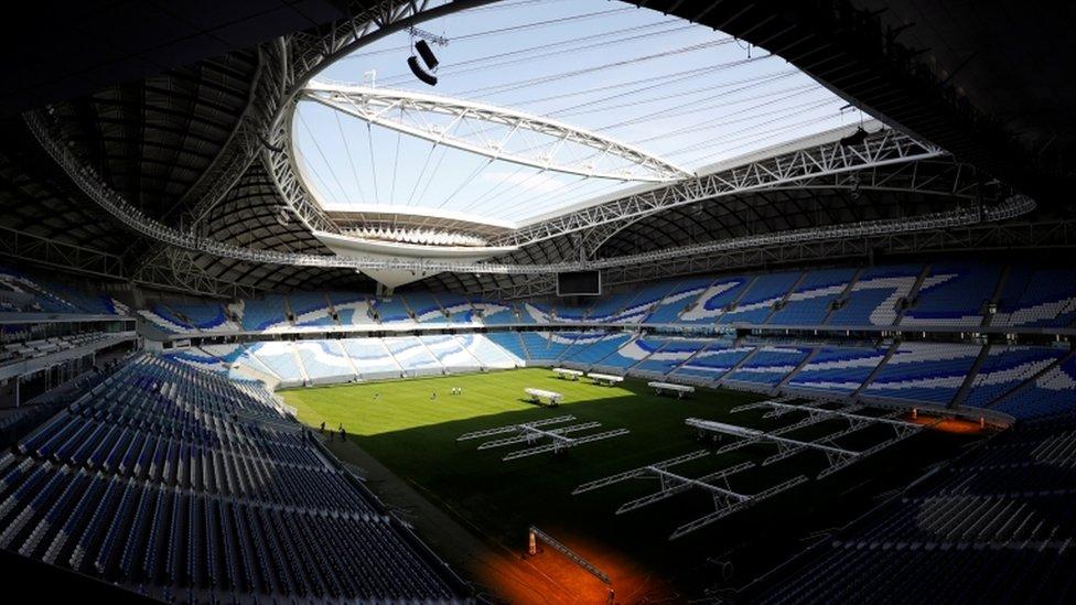 ملعب الجنوب الذي يقام خصيصا لاستضافة كأس العالم