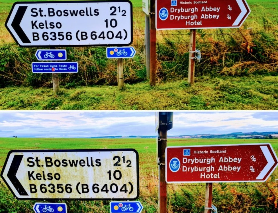 cleaned signs